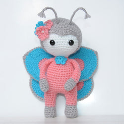 Amigurumi doll in butterfly costume - printable PDF