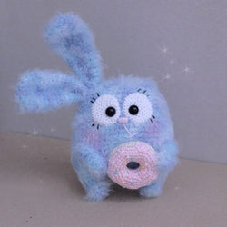Sweet bunny with donut (crochet tutorial) - printable PDF