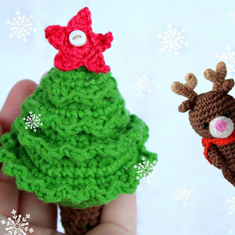 Christmas tree crochet pattern - printable PDF
