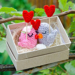 Birds in love  amigurumi pattern - printable PDF