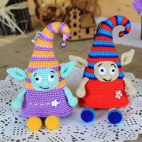 Crochet elf doll amigurumi pattern - printable PDF