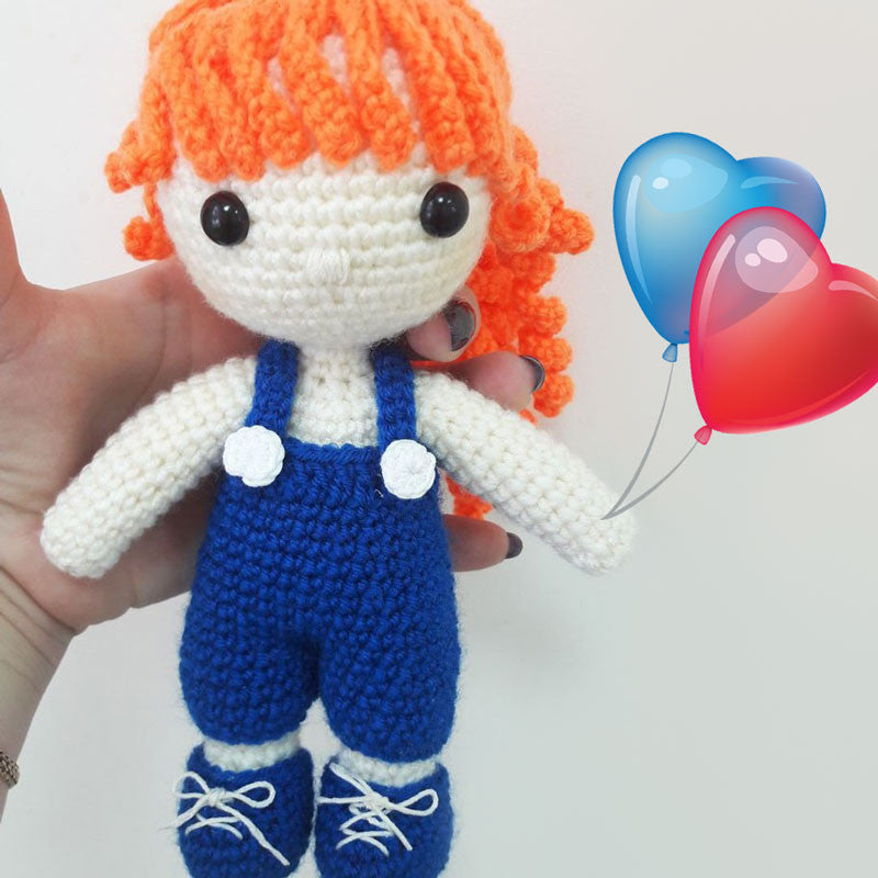 Julie doll amigurumi pattern - printable PDF