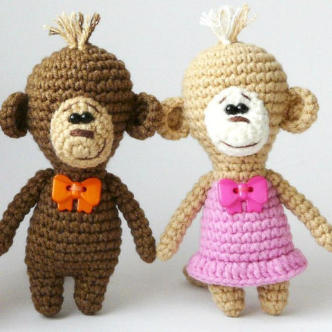 Amigurumi crochet monkey pattern - printable PDF