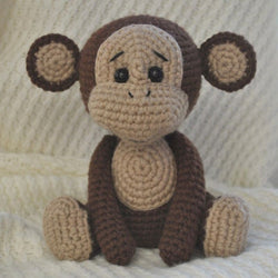 Naughty monkey amigurumi pattern - printable PDF
