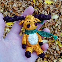 Amigurumi moose crochet pattern - printable PDF