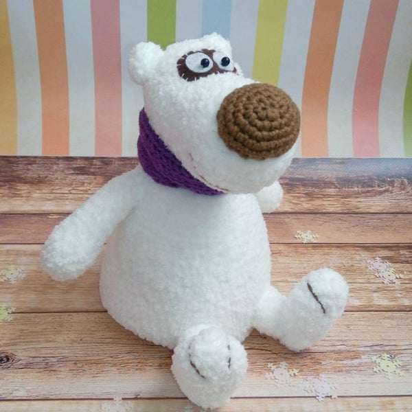Polar bear amigurumi pattern - printable PDF