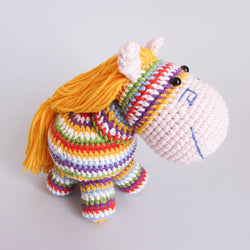 Rainbow pony amigurumi pattern - printable PDF