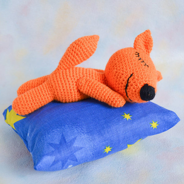 Sleeping fox amigurumi pattern - printable PDF
