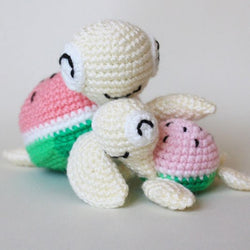 Watermelon turtles amigurumi patterns - printable PDF