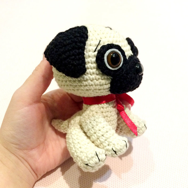 Baby Pug Dog crochet pattern - printable PDF