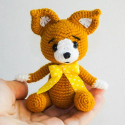 Baby fox crochet pattern - printable PDF