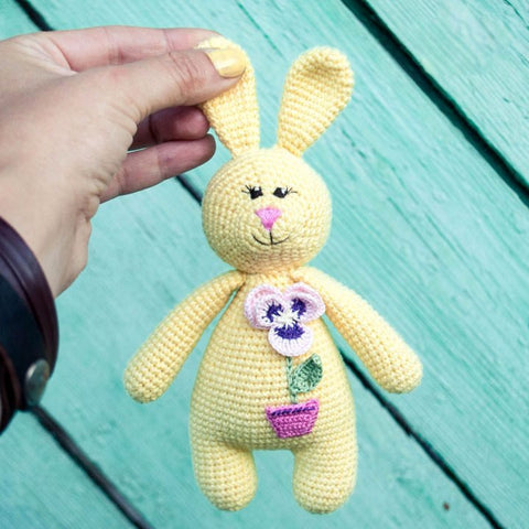 Amigurumi rabbit baby rattle - printable PDF