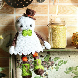 Halloween ghost crochet pattern - printable PDF