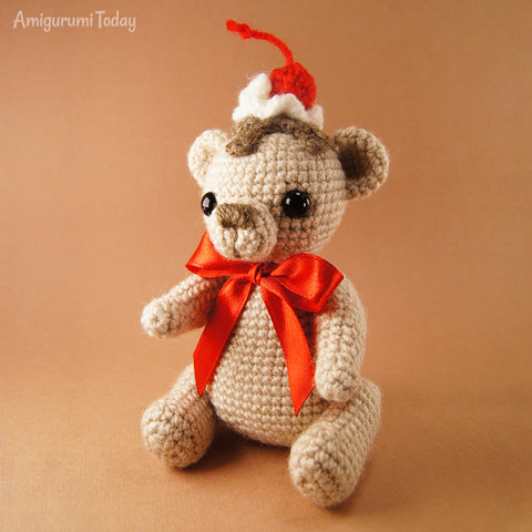 Crochet Cake Bear Pattern Printable Pdf Amigurumi Today Shop