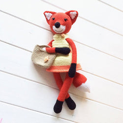 Lady fox amigurumi pattern - printable PDF