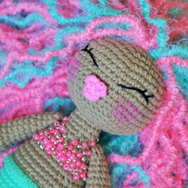 Mermaid amigurumi pattern - printable PDF