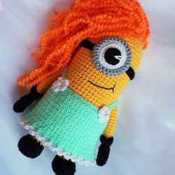 Minion girl amigurumi pattern - printable PDF