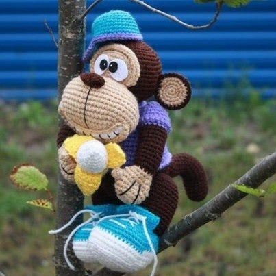 Monkey amigurumi crochet pattern - printable PDF