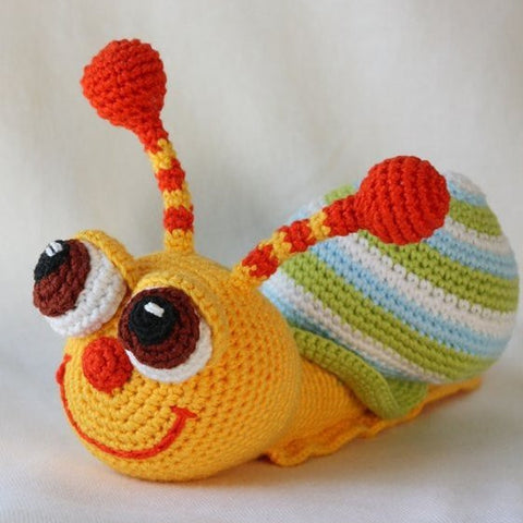 Pop-eyed snail crochet pattern - printable PDF