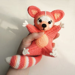 Raccoon amigurumi pattern - printable PDF