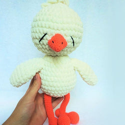 Sleepy chicken amigurumi pattern - printable PDF