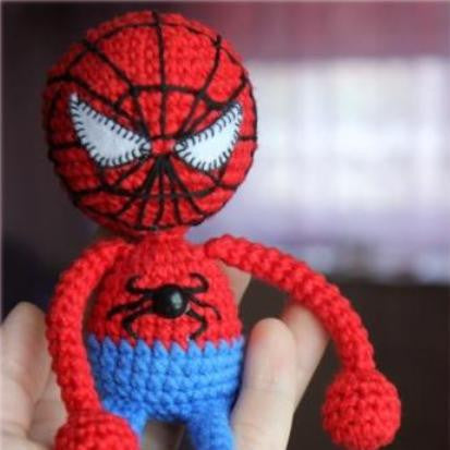 Amigurumi spiderman crochet pattern - printable PDF