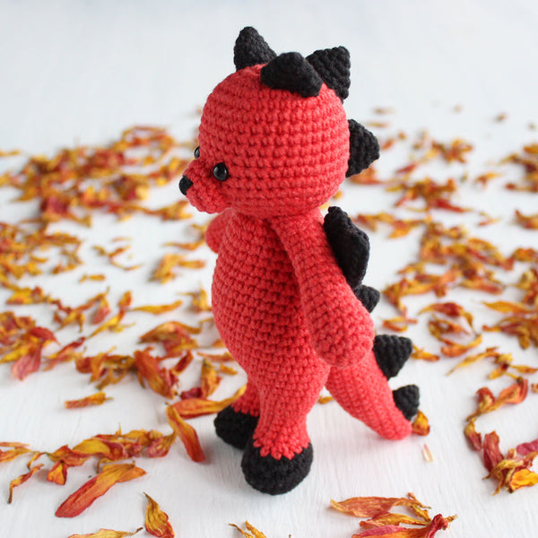Cuddle Me Dragon crochet pattern - printable PDF