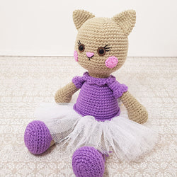Ballerina cat doll crochet pattern - printable PDF