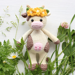Cuddle Me Cow amigurumi pattern - printable PDF