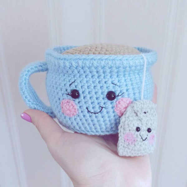Tea cup amigurumi pattern - printable PDF
