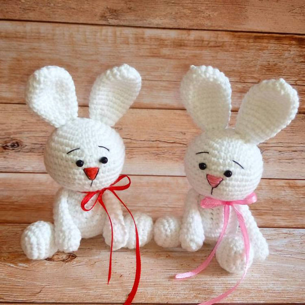 White rabbit amigurumi pattern - printable PDF