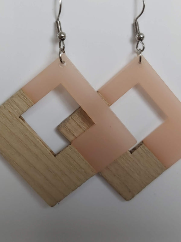 Wooden Resign Earrings