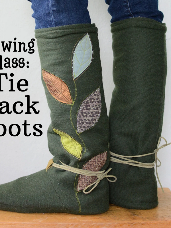 Learn to Sew - Tie Back Boots - 4 Week Class