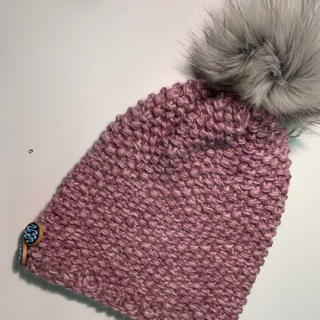 Lucky Lady Slouchy Pink Hat