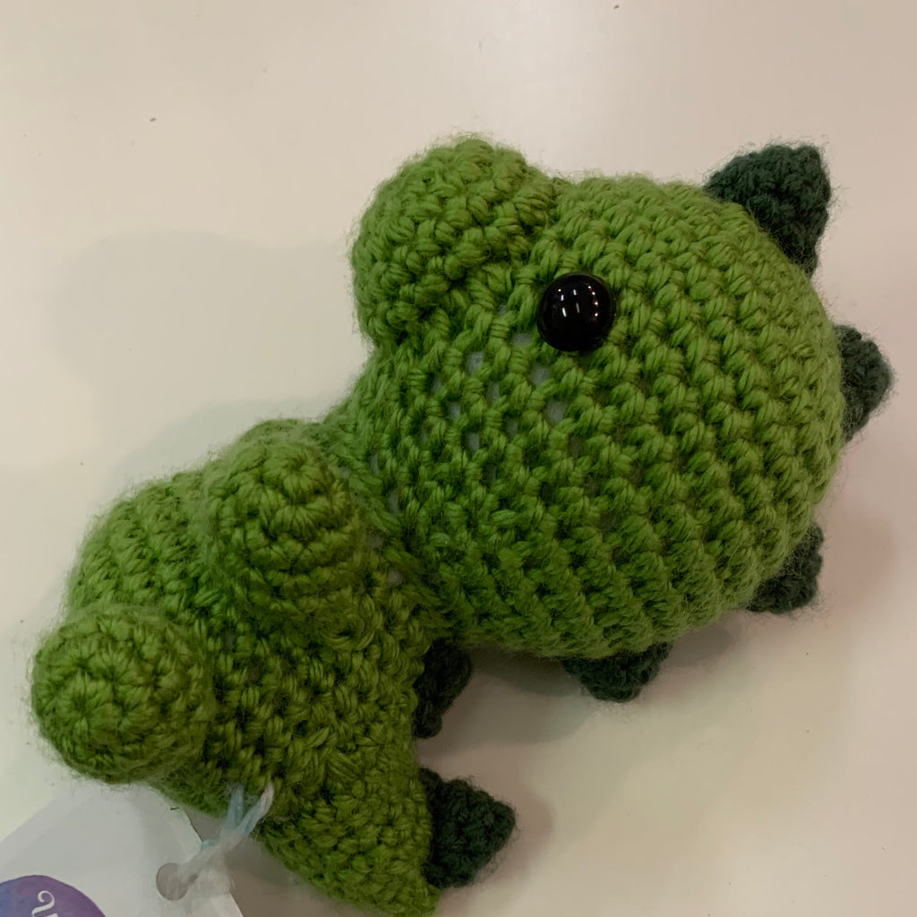 Crochet plush dinosaur small