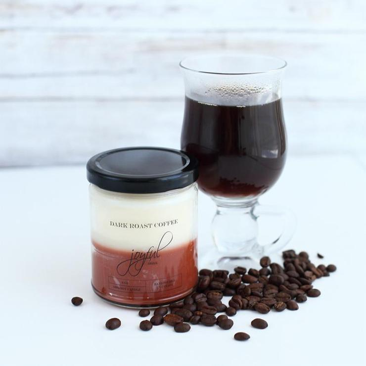 Dark Roast Coffee Candle 8 oz