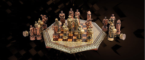 Khatam Chess and Backgammon Boards