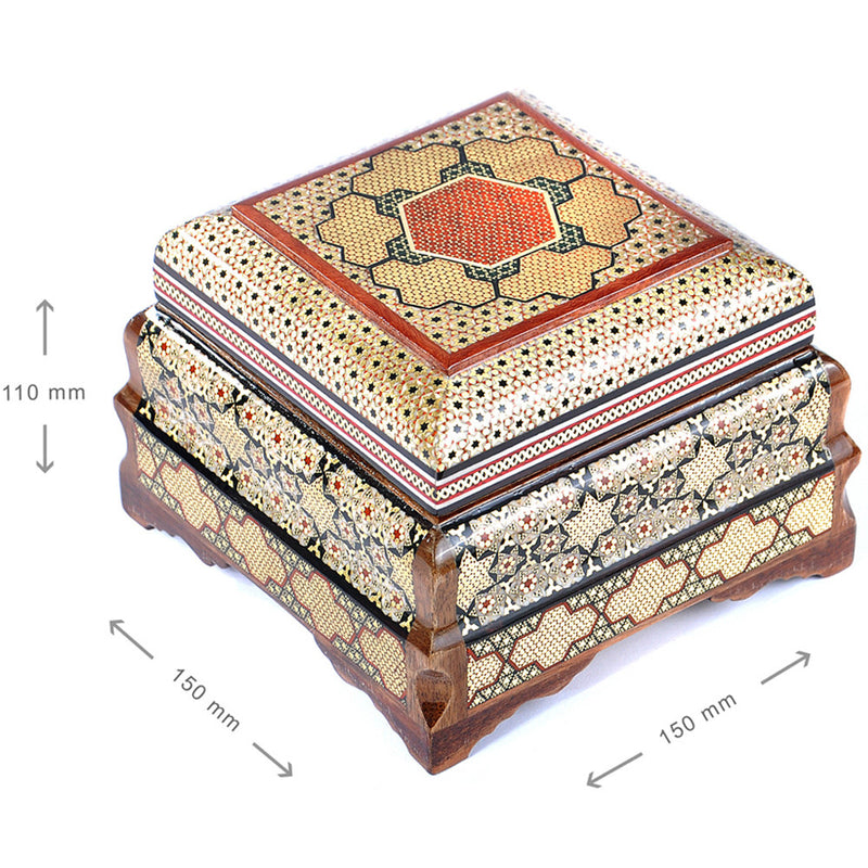 Wooden ALL HANDMADE Trinket inlaid box Jewellery Organiser keepsake Wedding GIFT - luxurygiftcraft