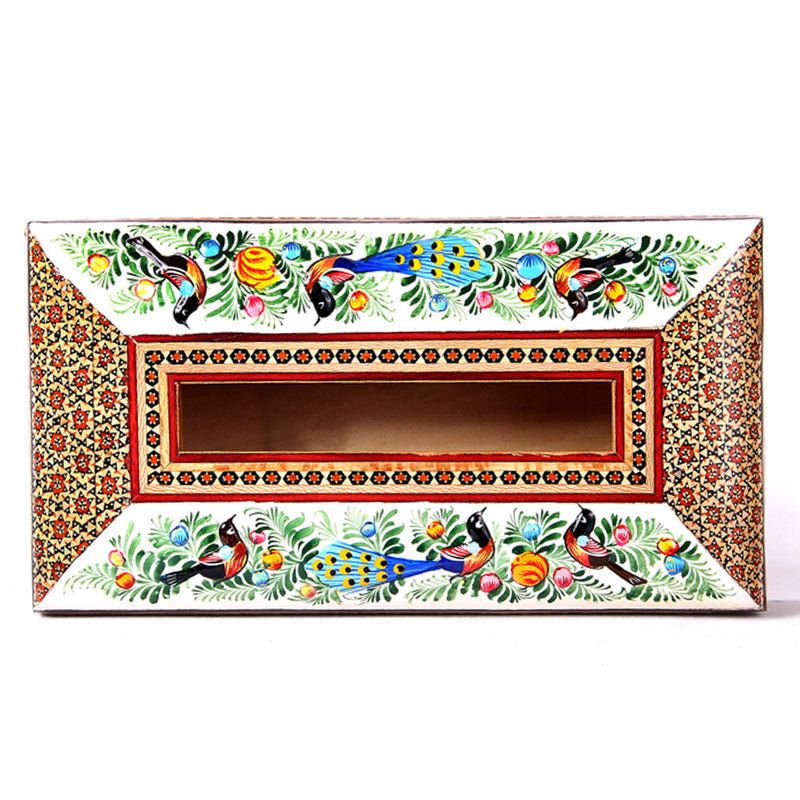 Wooden Handmade inlaid/Painted Tissue Box Holder Organizer Cover, Home & Office Car Decor - luxurygiftcraft