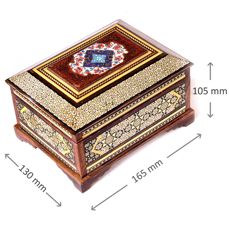 Handmade Trinket Jewellery Box Wooden Christmas Gift - luxurygiftcraft