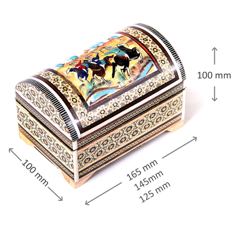 Wooden ALL HANDMADE Trinket Treasure chest inlaid box Jewellery Organiser keepsake Wedding GIFT - luxurygiftcraft