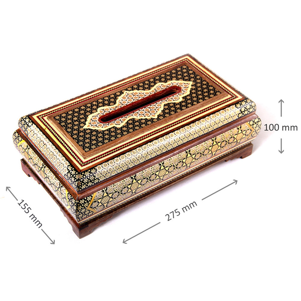 Wooden Handmade inlaid  Tissue Box Holder Organizer Cover, Home & Office Car Decor - luxurygiftcraft