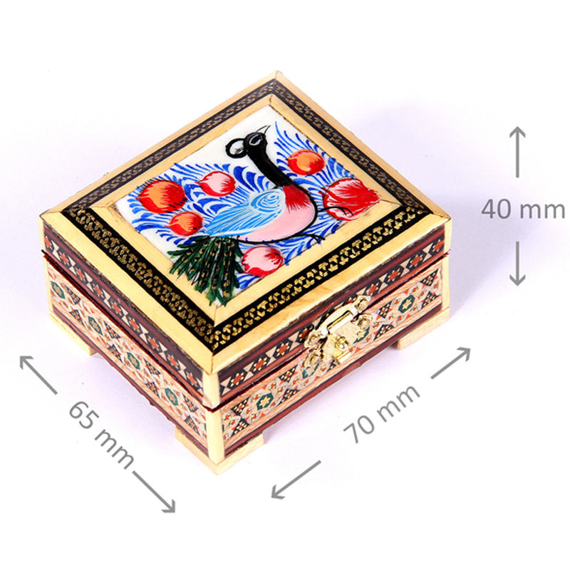 Wooden Handmade Jewellery Box/ Trinket Box Marquetry Ornate - luxurygiftcraft