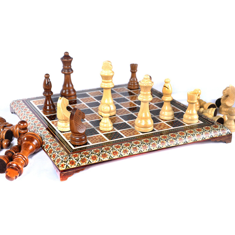 Luxury Handmade Games Chess & Backgammon Set Gift Craft Marquetry, Get Free Pieces - luxurygiftcraft