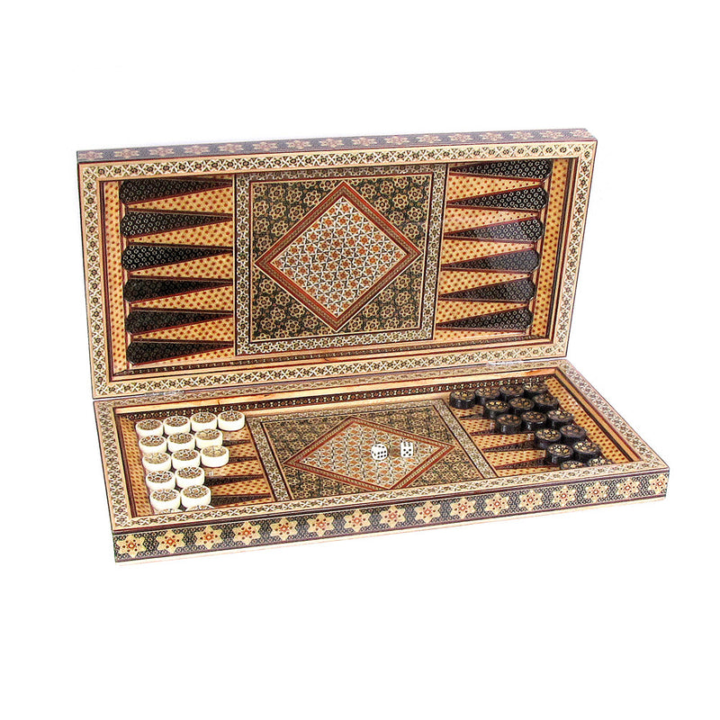 luxury backgammon stones wooden handmade gift for him - luxurygiftcraft