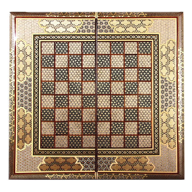 Luxury Handmade Games Chess & Backgammon Set Gift Craft Marquetry, Get Free Pieces