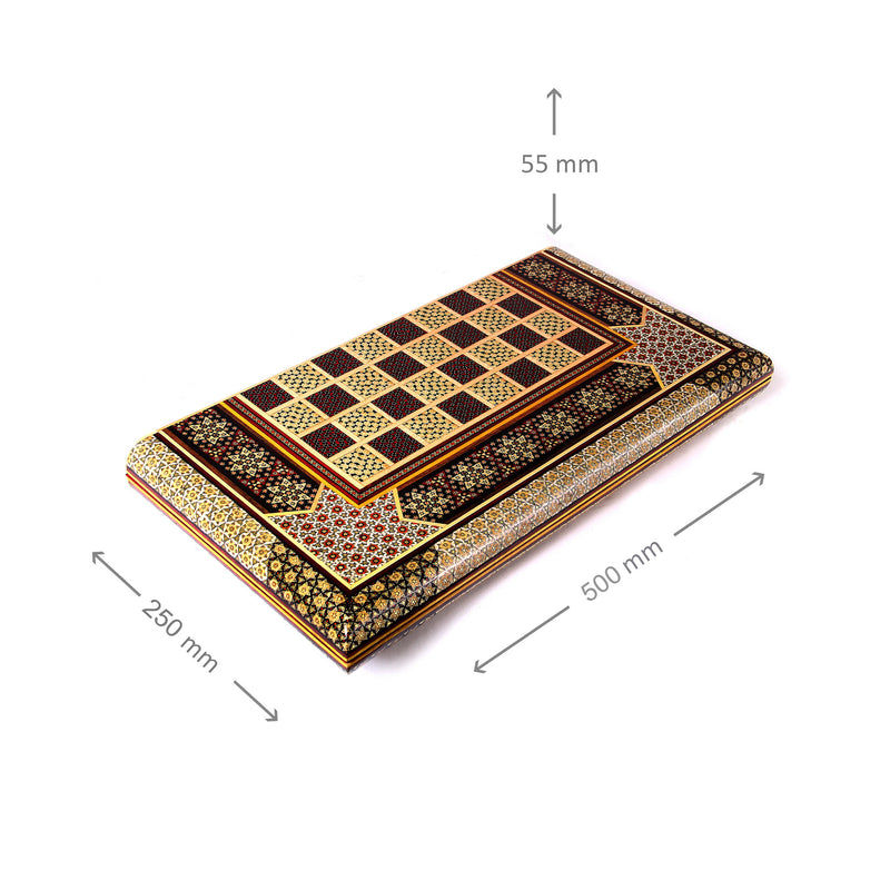 luxury handmade gift for him wooden chess and backgammon set - luxurygiftcraft