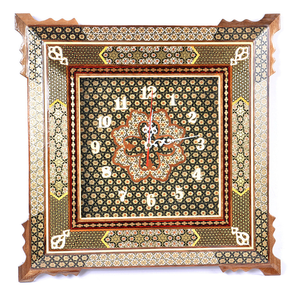 Luxury Handmade Marquetry Clock Craft Chic Mothers day Gift Home Furniture Decoration - luxurygiftcraft