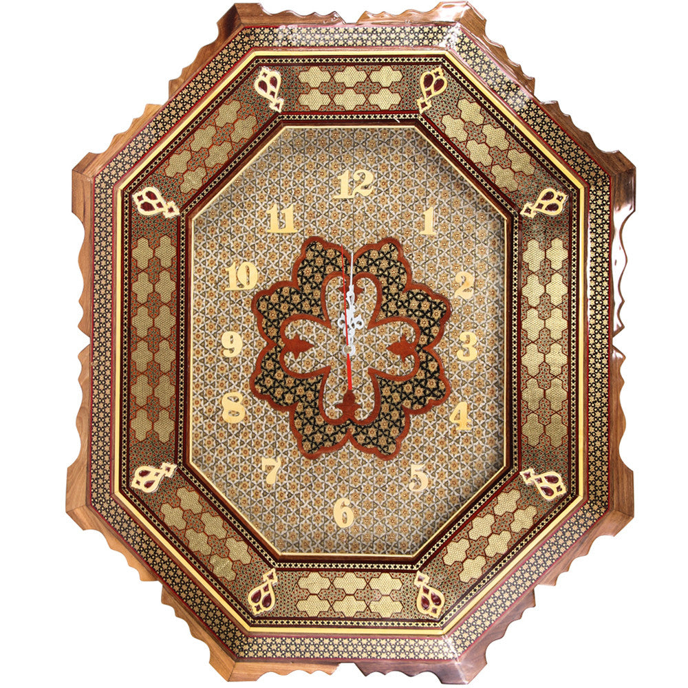 luxury wooden handmade wall clock home furniture Decoration - luxurygiftcraft