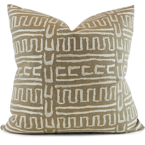 Abenaki Chestnut Pillow Cover | Shown in 20x20